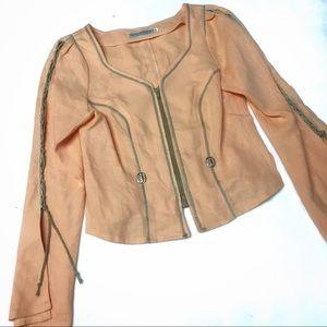 Kaizer Franz Josef Linen coral cream jacket sz 40